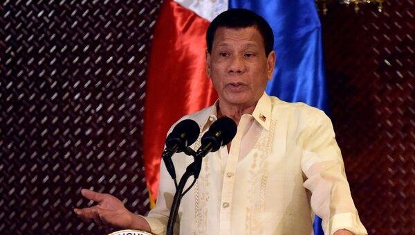 Tổng thống Philippines Rodrigo Duterte. - Sputnik Việt Nam