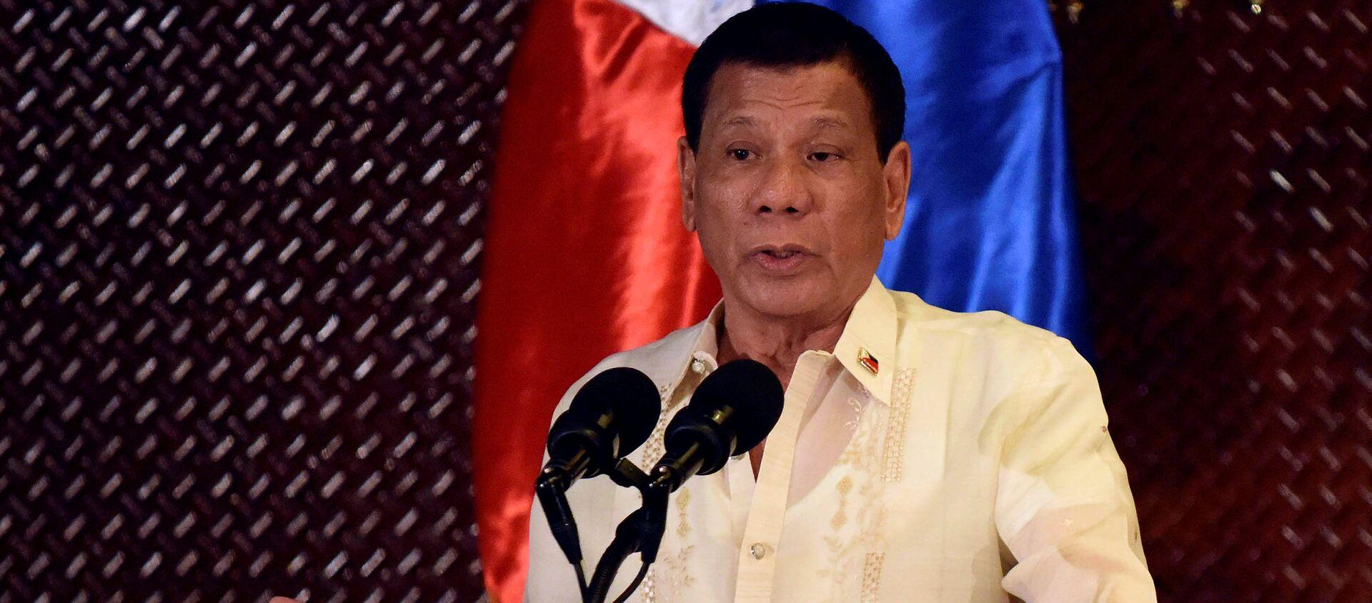 Tổng thống Philippines Rodrigo Duterte. - Sputnik Việt Nam, 1920, 22.06.2021