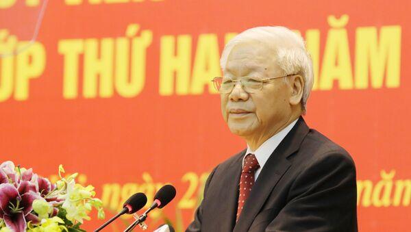 Tổng Bí thư Nguyễn Phú Trọng phát biểu khai mạc lớp bồi dưỡng. - Sputnik Việt Nam