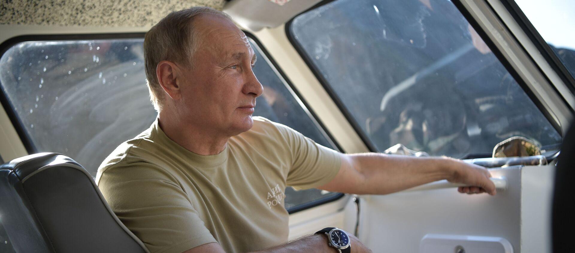 Vladimir Putin nghỉ ngơi ở Tuva - Sputnik Việt Nam, 1920, 29.08.2018