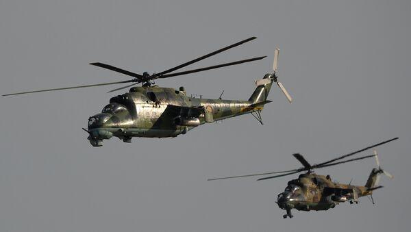 máy bay trực thăng quân sự Nga Mi-35 - Sputnik Việt Nam