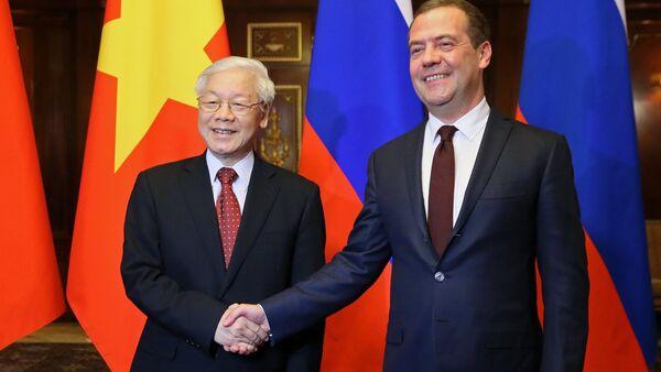 Dmitry Medvedev và Nguyễn Phú Trọng - Sputnik Việt Nam