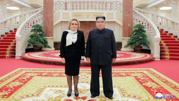 Lãnh đạo CHDCND Triều Tiên Kim Jong-un gặp Chủ tịch Hội đồng Liên bang Nga Valentina Matvienko - Sputnik Việt Nam