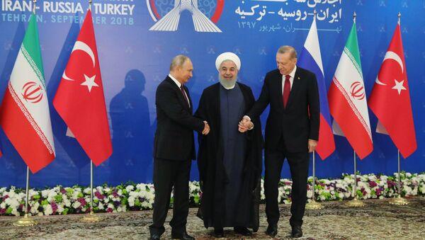 Cuộc họp ba bên của các nhà lãnh đạo Nga, Thổ Nhĩ Kỳ và Iran tổ chức ở Tehran - Sputnik Việt Nam