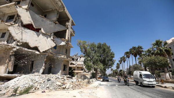 Разрушенные здания в городе Идлиб, Сирия - Sputnik Việt Nam