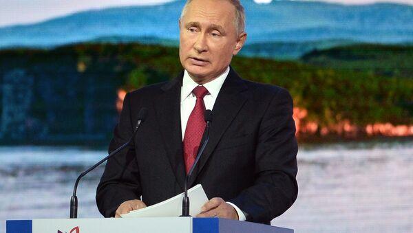 Tổng thống Nga Vladimir Putin tại Diễn đàn Kinh tế Đông - Sputnik Việt Nam