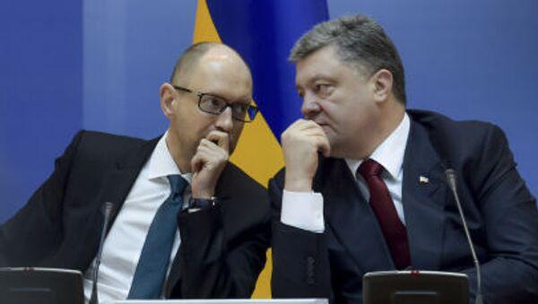 Arseniy Yatsenyuk và Peyotr Poroshenko - Sputnik Việt Nam