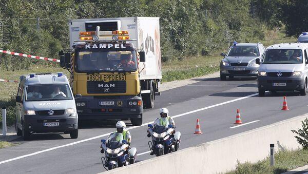 Xe tải với 50 thi thể di dân ở Áo - Sputnik Việt Nam