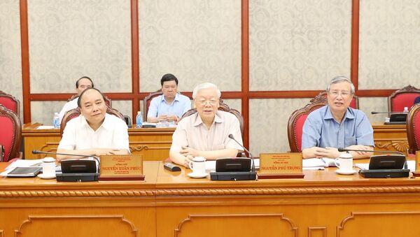 Xây dựng Đảng và hệ thống chính trị: Bộ Chính trị họp cho ý kiến về các đề án chuẩn bị trình Hội nghị Trung ương 8 (khóa XII) - Sputnik Việt Nam