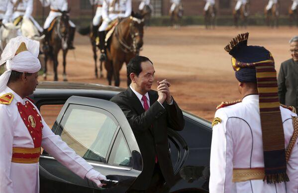 Chủ tịch nước Việt Nam Trần Đại Quang trong chuyến thăm Ấn Độ - Sputnik Việt Nam