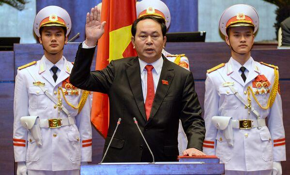 Chủ tịch nước Việt Nam Trần Đại Quang tuyên thệ trong lễ nhậm chức tại Hà Nội - Sputnik Việt Nam
