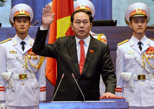 Chủ tịch nước Việt Nam Trần Đại Quang tuyên thệ trong lễ nhậm chức tại Hà Nội