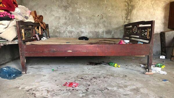 Hiện trường nơi cháu N. bị sát hại. (ảnh Cao Sơn) - Sputnik Việt Nam