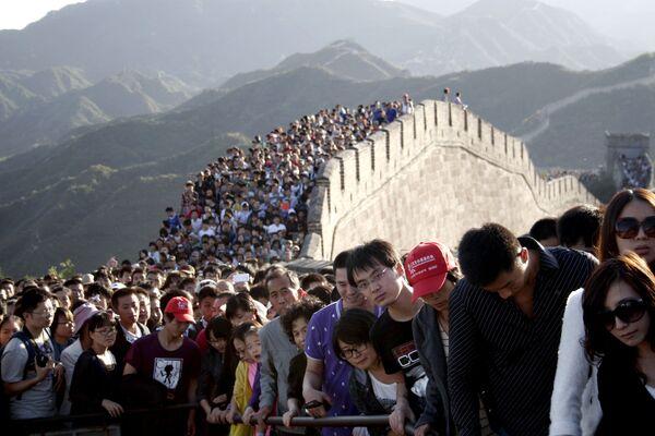 Du khách đến thăm Vạn Lý Trường Thành của Trung Quốc - Sputnik Việt Nam