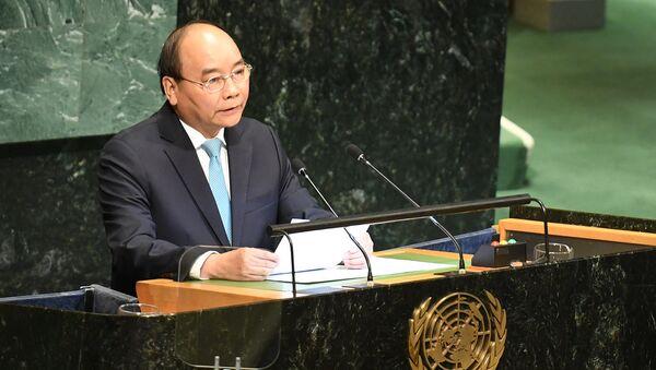 Thủ tướng Nguyễn Xuân Phúc phát biểu tại phiên thảo luận cấp cao Đại hội đồng LHQ - Sputnik Việt Nam