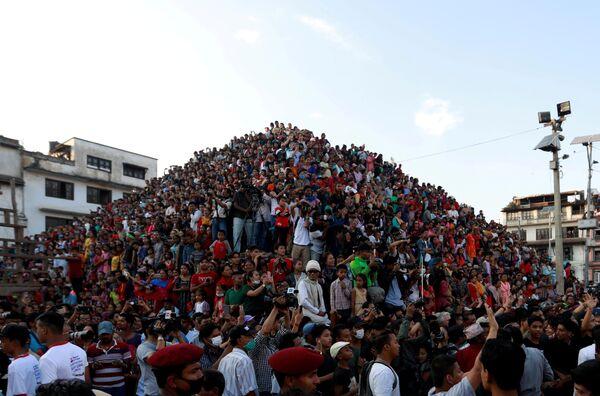 Lễ hội tôn vinh thần Indra ở Kathmandu, Nepal - Sputnik Việt Nam