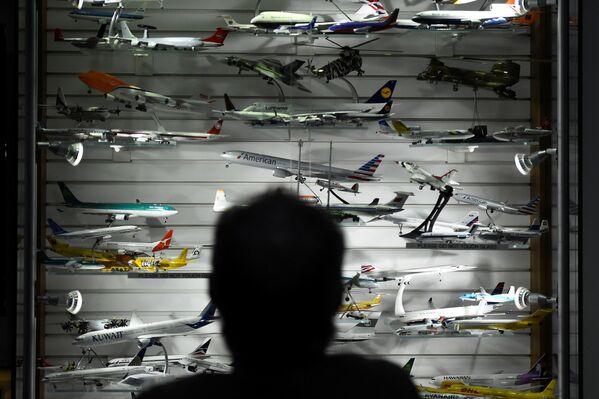 Người đứng trước bộ sưu tập lớn nhất các mô hình máy bay trưng bày tại phi trường thành phố Shannon (Ireland ) - Sputnik Việt Nam
