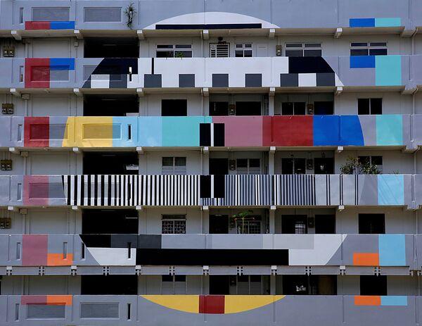 Tòa nhà chung cư sơn màu ở Singapore - Sputnik Việt Nam