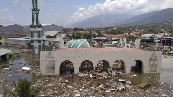 Las consecuncias del terremoto en Indonesia - Sputnik Việt Nam