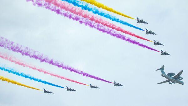 Máy bay trong buổi diễn tập duyệt binh ở Bắc Kinh - Sputnik Việt Nam