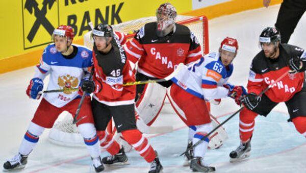 Trận chung kết giải vô địch Hockey thế giới 2015 giữa đội tuyển quốc gia Canada và Nga tại Cộng hòa Séc - Sputnik Việt Nam