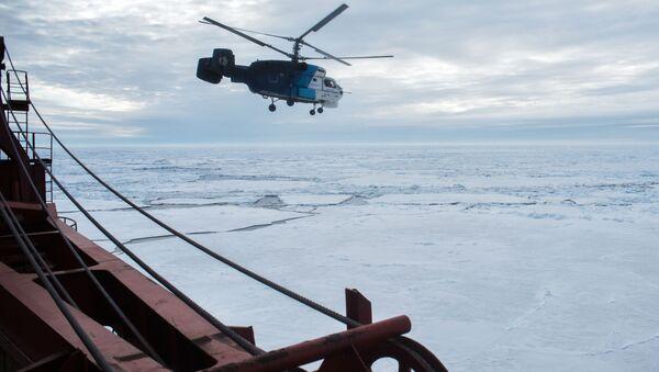 Tàu phá băng nguyên tử Yamal và máy bay trực thăng ở Bắc Cực - Sputnik Việt Nam
