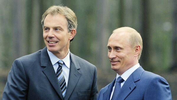 Tổng thống Nga Vladimir Putin với ông Tony Blair, cựu Thủ tướng Anh - Sputnik Việt Nam