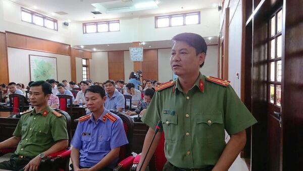 Thượng tá Phạm Thanh Bình - Trưởng phòng Tham mưu kiêm người phát ngôn Công an tỉnh Đắk Nông - Sputnik Việt Nam