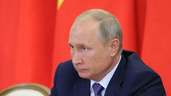 Ngày 6 tháng Chín năm 2018. Tổng bí thư Đảng Cộng sản Việt Nam Nguyễn Phú Trọng và Tổng thống Nga Vladimir Putin trong cuộc họp tại Sochi. - Sputnik Việt Nam