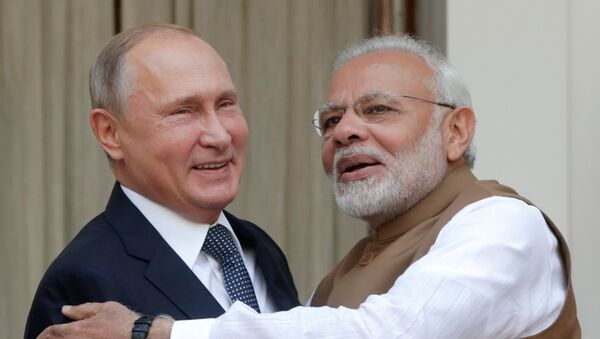 Tổng thống Vladimir Putin và Thủ tướng Ấn Độ Narendra Modi - Sputnik Việt Nam