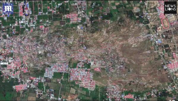 Ảnh vệ tinh cho thấy khoảnh khắc hai vùng ở Indonesia bị xóa sổ sau cơn động đất (Video) - Sputnik Việt Nam