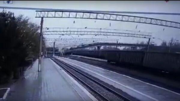 Video ghi lại cảnh vụ sập cầu trên tuyến đường sắt xuyên Siberia ở vùng Amur - Sputnik Việt Nam