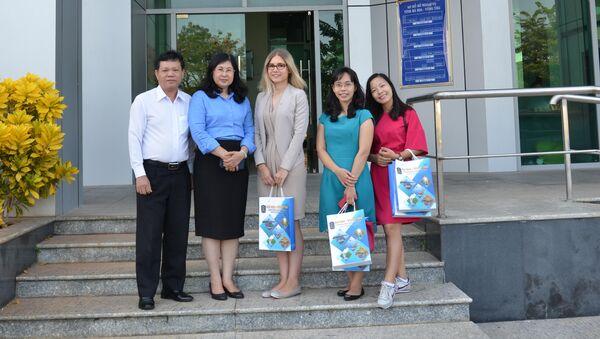Phóng viên Maria Efimova của Sputnik Vietnam đã tham gia cuộc gặp làm việc tại Sở Ngoại vụ tỉnh Bà Rịa-Vũng Tàu - Sputnik Việt Nam