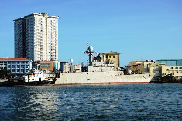 Chiến hạm săn ngầm lớp Pohang mang số hiệu 18 do Hàn Quốc trao tặng Hải quân Việt Nam, Vũng Tàu - Sputnik Việt Nam