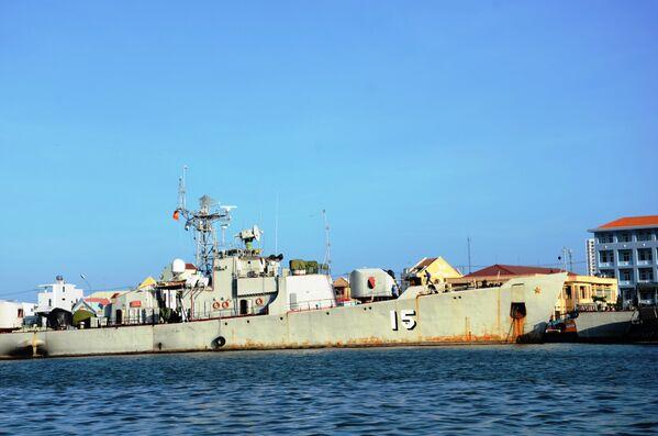 Tàu tuần tra của lực lượng hải quân Việt Nam dự án SRV 159 (Liên Xô) Petya số hiệu 15, Vũng Tàu - Sputnik Việt Nam