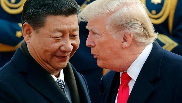 Tổng thống Hoa Kỳ Donald Trump và Chủ tịch Trung Quốc Tập Cận Bình  - Sputnik Việt Nam