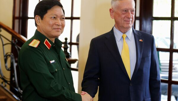 Bộ trưởng Quốc phòng Mỹ Jim Mattis và Bộ trưởng Quốc phòng Việt Nam Ngô Xuân Lịch - Sputnik Việt Nam