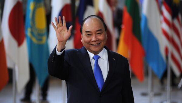 Thủ tướng Nguyễn Xuân Phúc tại Hội nghị thượng đỉnh Á-Âu lần thứ 12 (ASEM) tại Brussels. - Sputnik Việt Nam