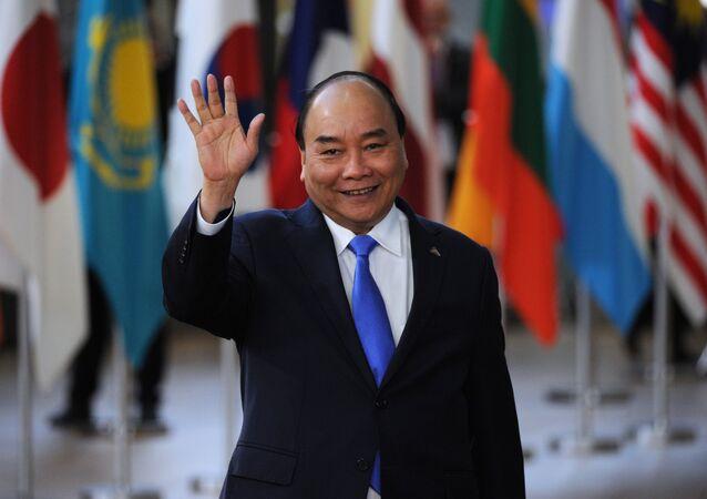 Thủ tướng Nguyễn Xuân Phúc tại Hội nghị thượng đỉnh Á-Âu lần thứ 12 (ASEM) tại Brussels.