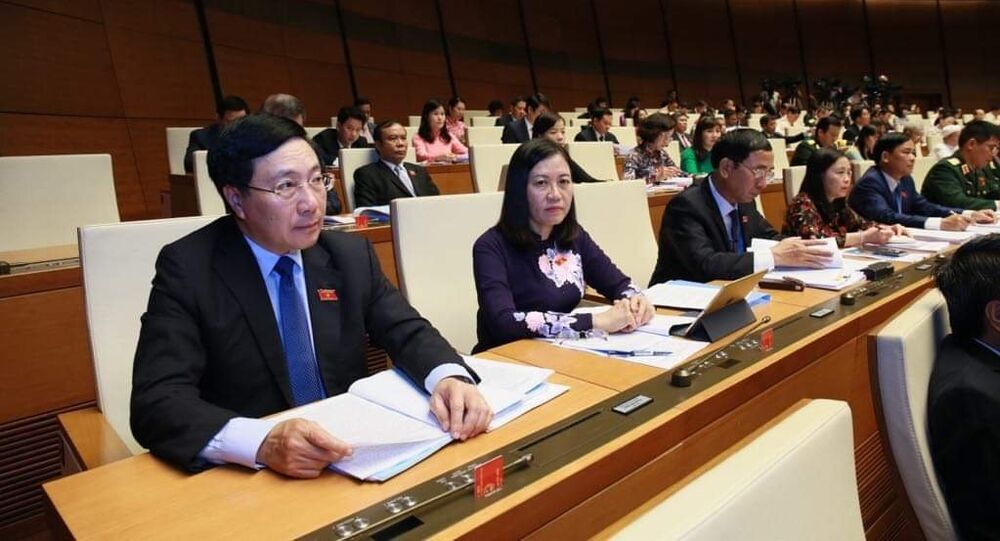 Phó Thủ tướng Phạm Bình Minh và các đại biểu dự họp
