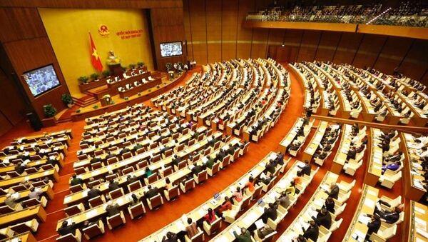 Toàn cảnh phiên khai mạc Kỳ họp thứ 6, Quốc hội khóa XIV. - Sputnik Việt Nam