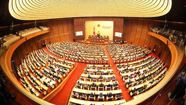 Toàn cảnh Phiên khai mạc Kỳ họp thứ sáu, Quốc hội khóa XIV. - Sputnik Việt Nam