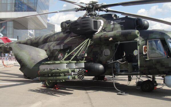 Máy bay trực thăng vận tải-chiến đấu Mi-171Sh tại triển lãm HeliRussia-2018. - Sputnik Việt Nam