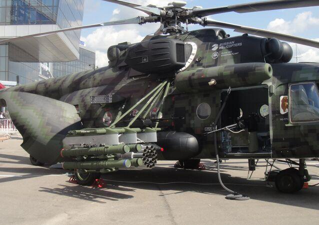 Máy bay trực thăng vận tải-chiến đấu Mi-171Sh tại triển lãm HeliRussia-2018.