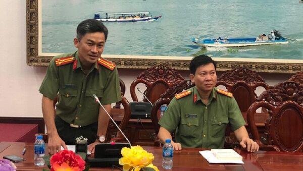 Thượng tá Trần Văn Dương - trưởng phòng tham mưu Công an TP Cần Thơ - Sputnik Việt Nam