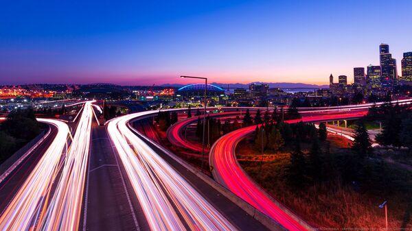 Những con đường ban đêm ở Seattle, Washington - Sputnik Việt Nam