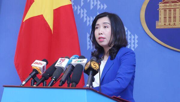 Người Phát ngôn Bộ Ngoại giao Lê Thị Thu Hằng thông báo một số hoạt động ngoại giao của Việt Nam. - Sputnik Việt Nam