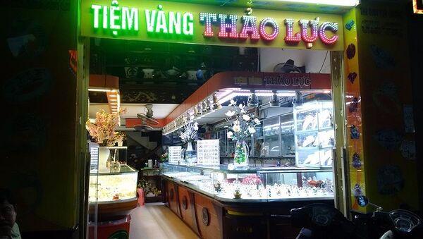Tiệm vàng Thảo Lực luôn trong tình trạng vắng khách trong 2 ngày nay - Sputnik Việt Nam