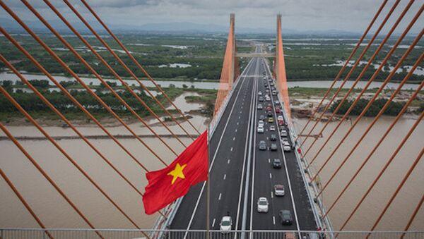 Ngày 1/9, Cầu Bạch Đằng nối Hải Phòng với Quảng Ninh chính thức khánh thành sau gần 4 năm triển khai dự án toàn tuyến. - Sputnik Việt Nam
