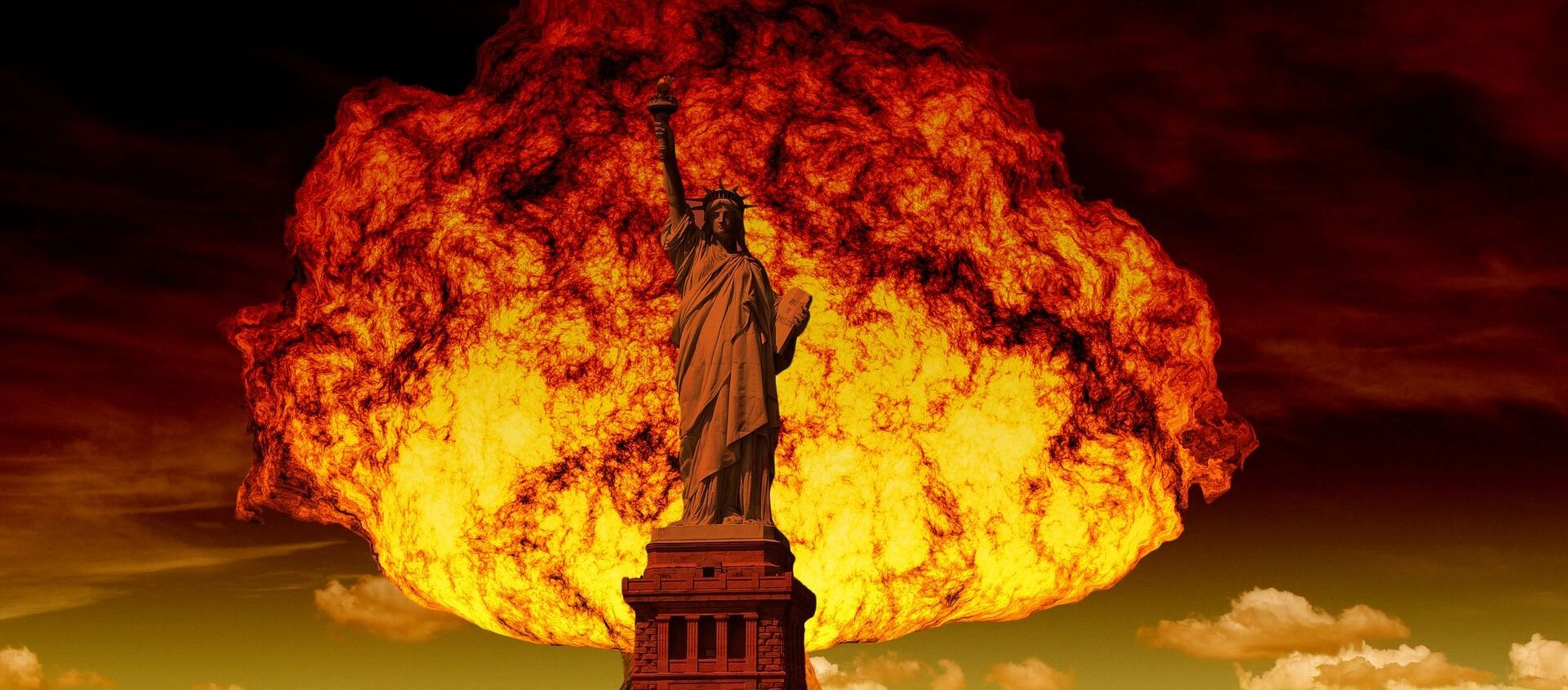 Ядерный взрыв на фоне статуи Свободы в Нью-Йорке - Sputnik Việt Nam, 1920, 03.02.2021